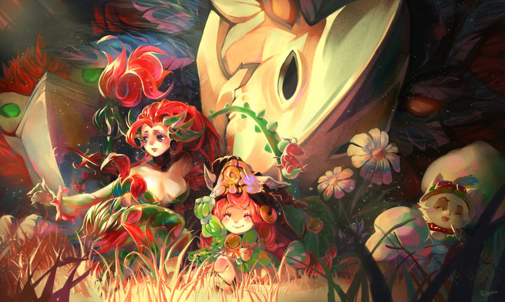 Teemo's Secret Garden wallpaper