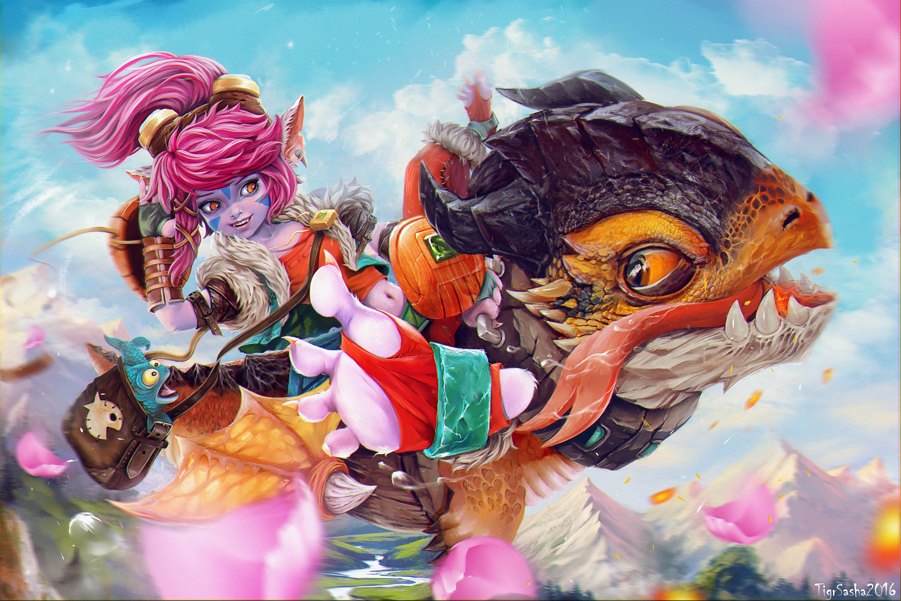 Dragon Trainer Tristana wallpaper