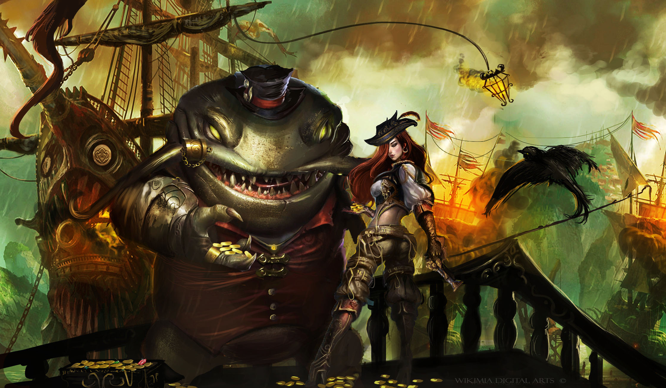 Tahm Kench & Miss Fortune wallpaper