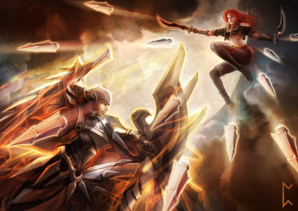 Leona vs Katarina wallpaper