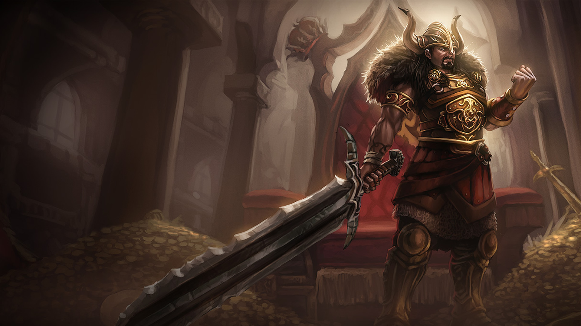 viking tryndamere lolwallpapers
