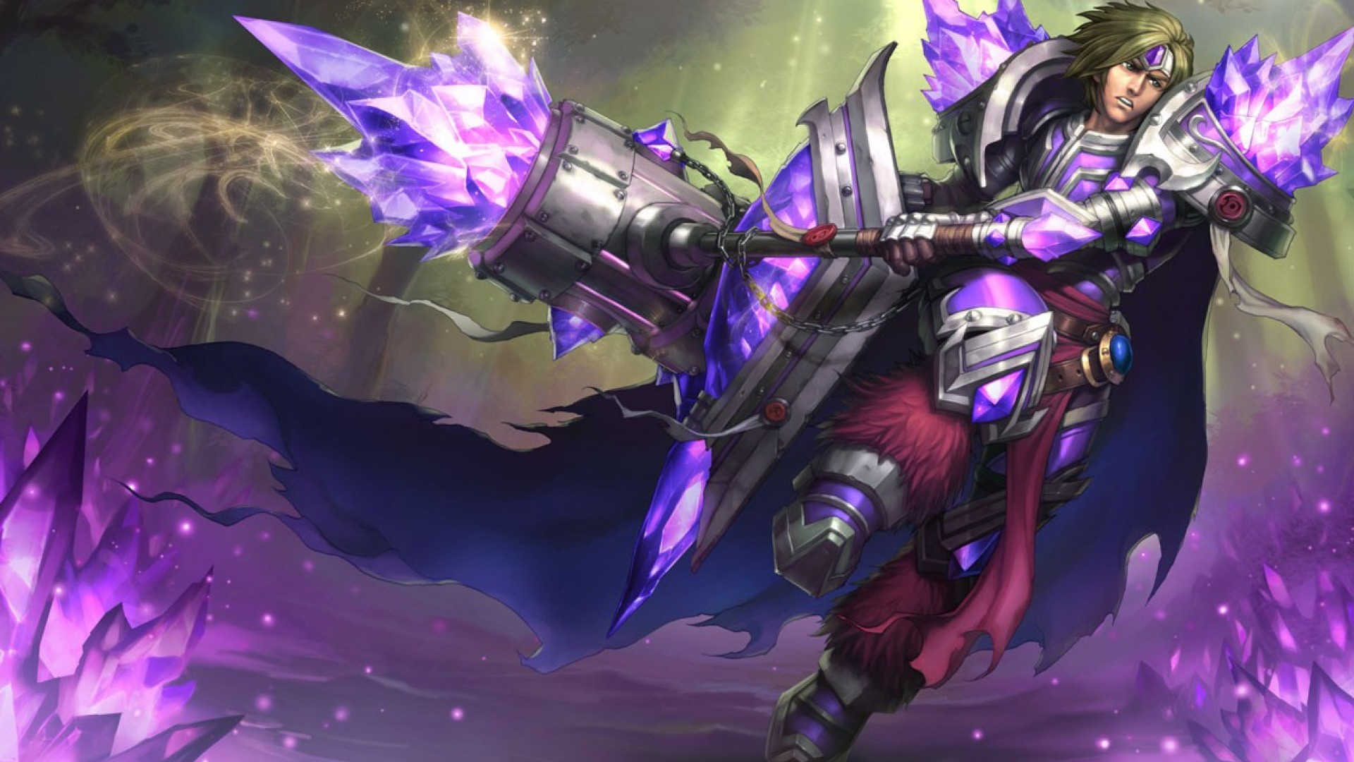 Armor Of The Fifth Age Taric Chinese Splash Art wallpaper