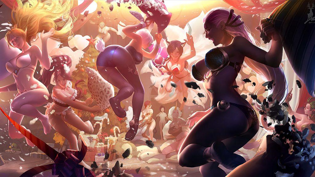 League of Legends Girls Pillow Fight wallpaper