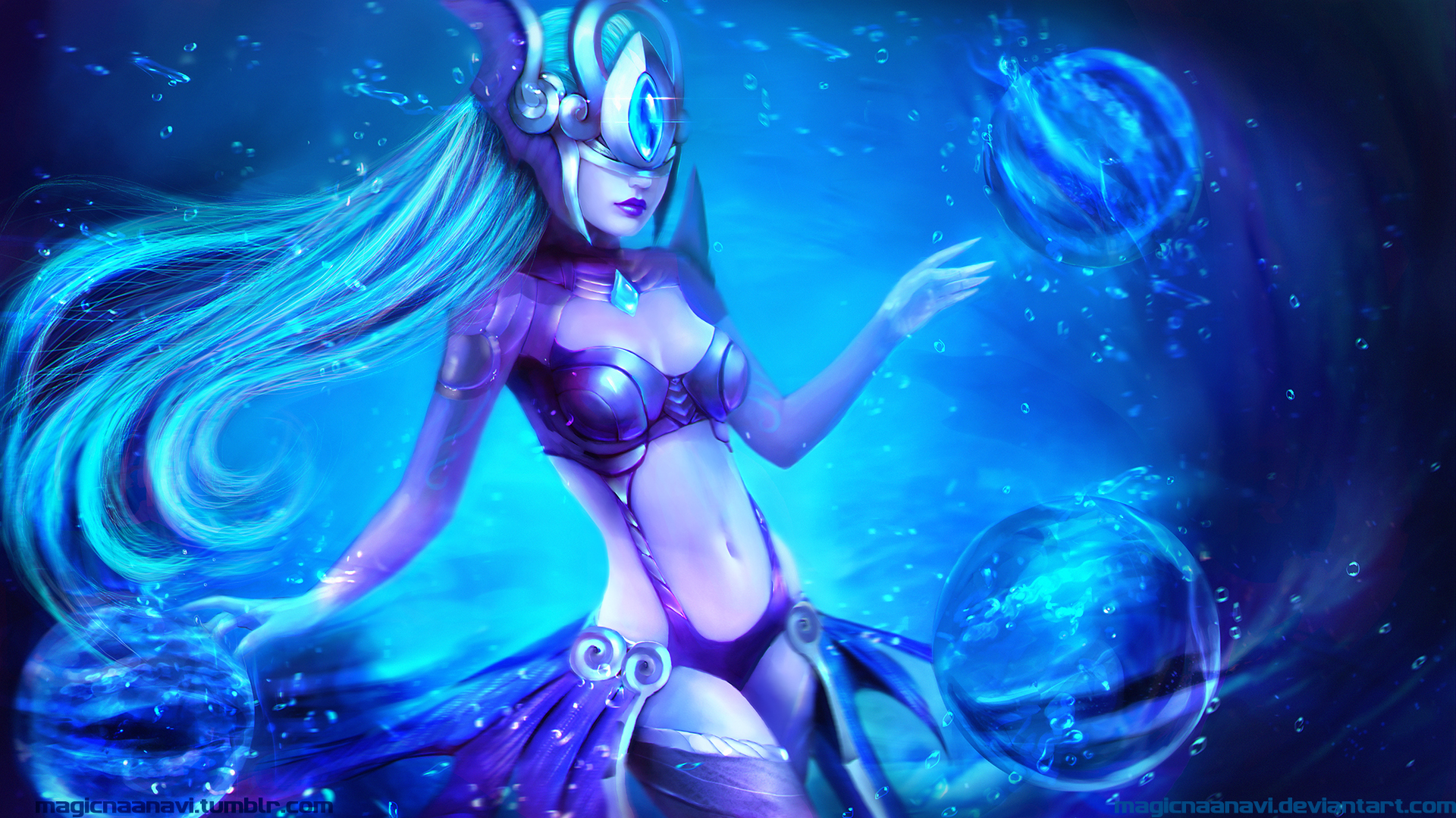 Atlantean Syndra wallpaper