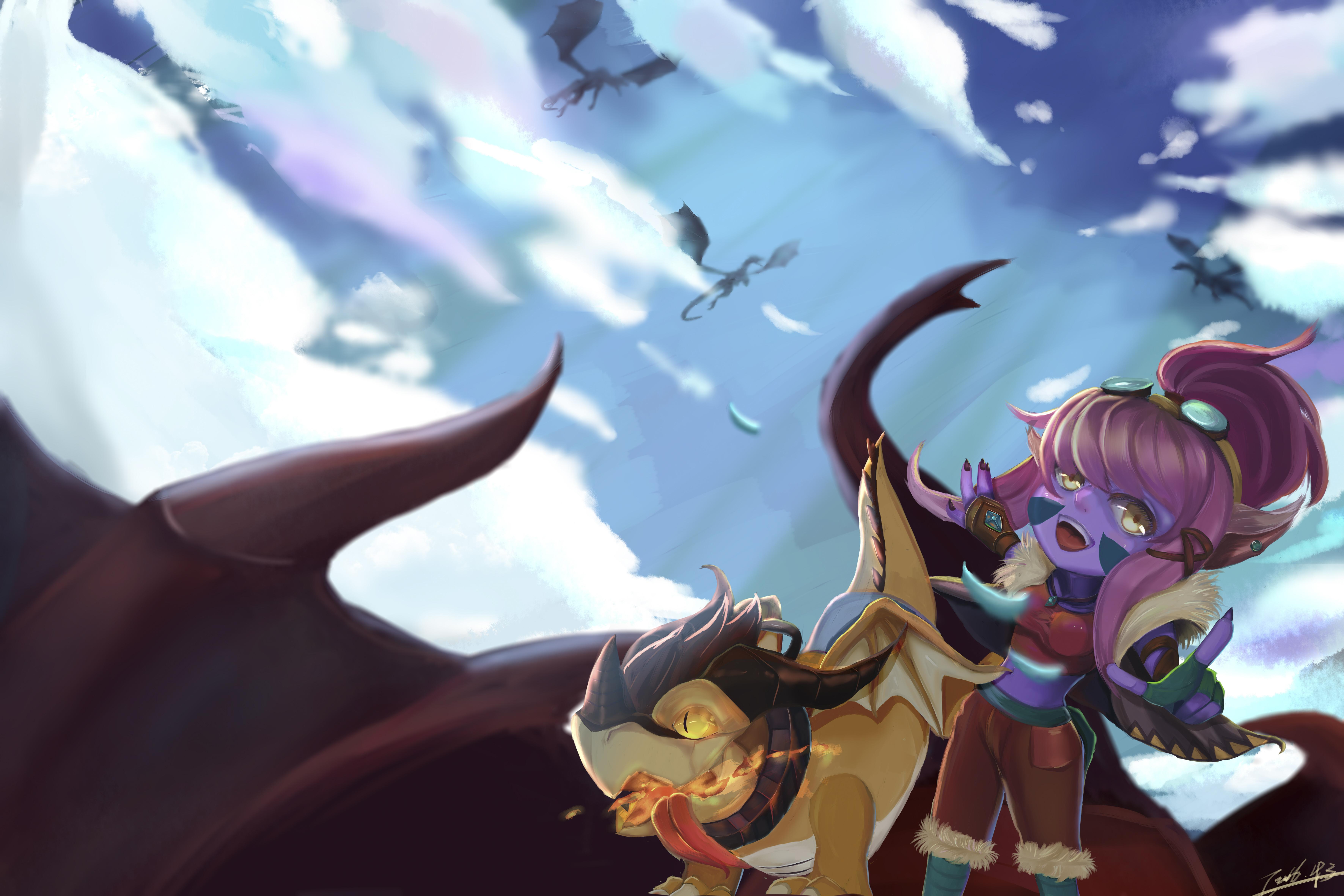 Dragon Trainer Tristana wallpaper