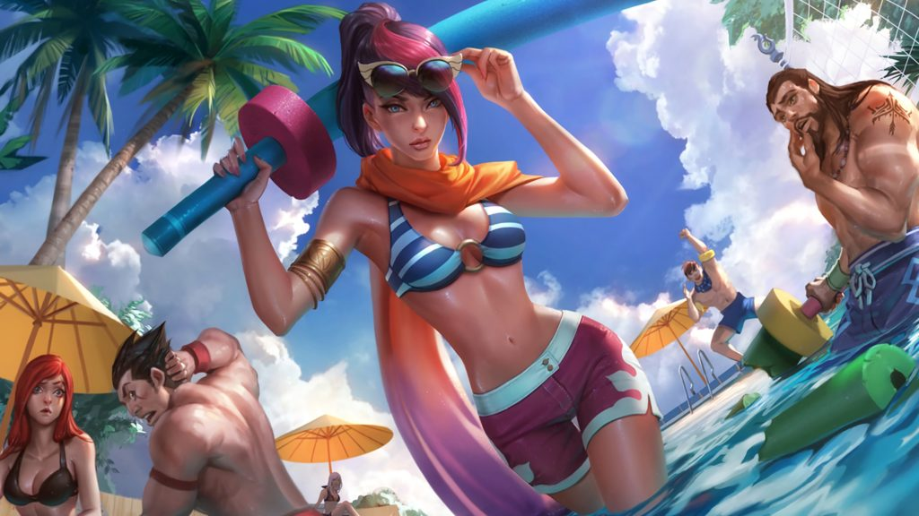 Pool Party Fiora wallpaper