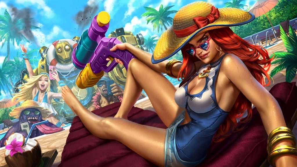Pool Party Miss Fortune wallpaper