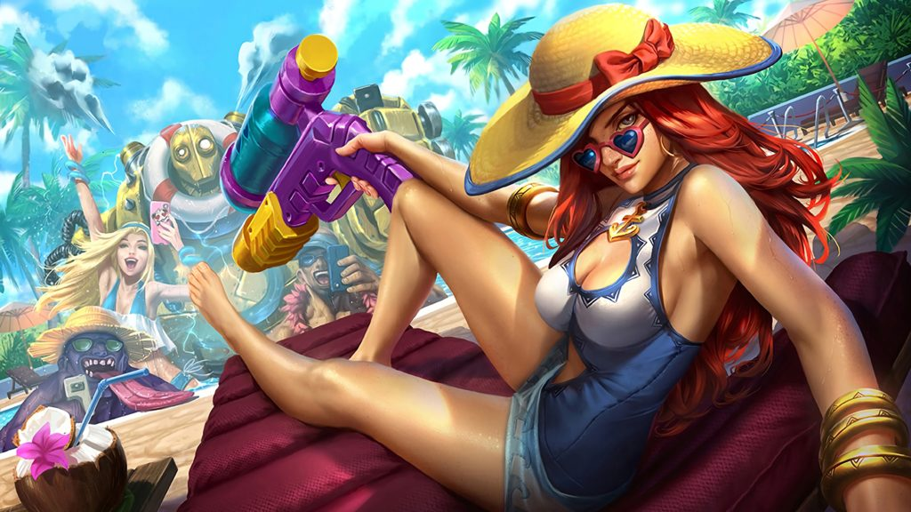 Pool Party Miss Fortune Update wallpaper