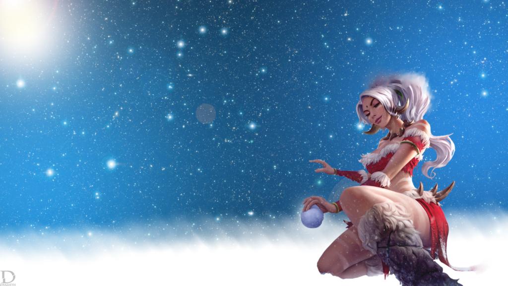 Snow Bunny Nidalee wallpaper