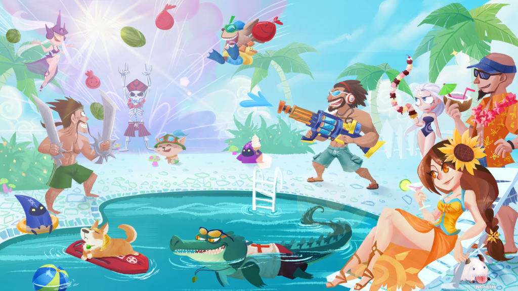 Pool Party wallpaper