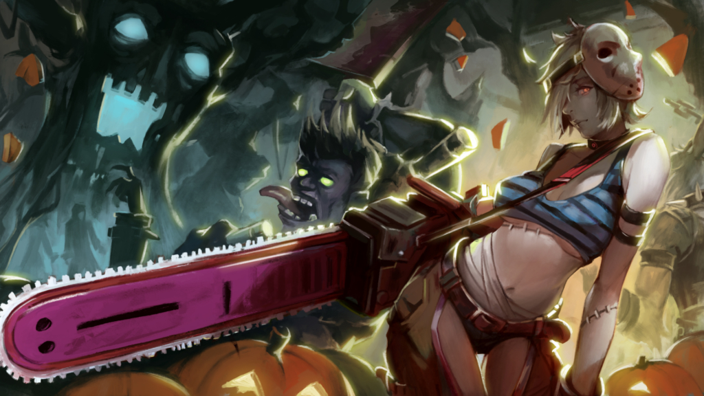 Riven Halloween Skin Concept wallpaper