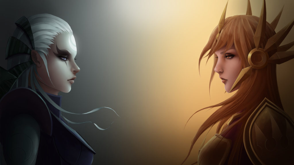 Diana & Leona wallpaper