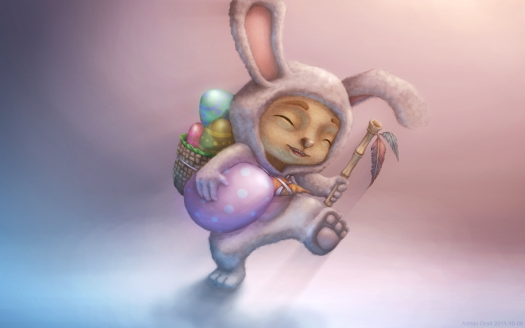 Cottontail Teemo wallpaper