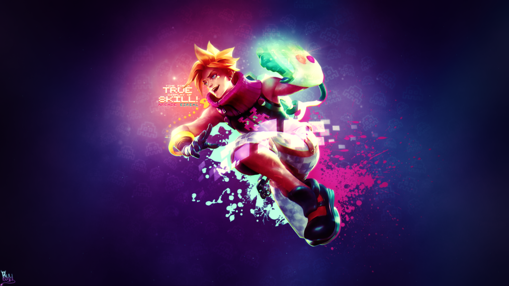 Arcade Ezreal wallpaper
