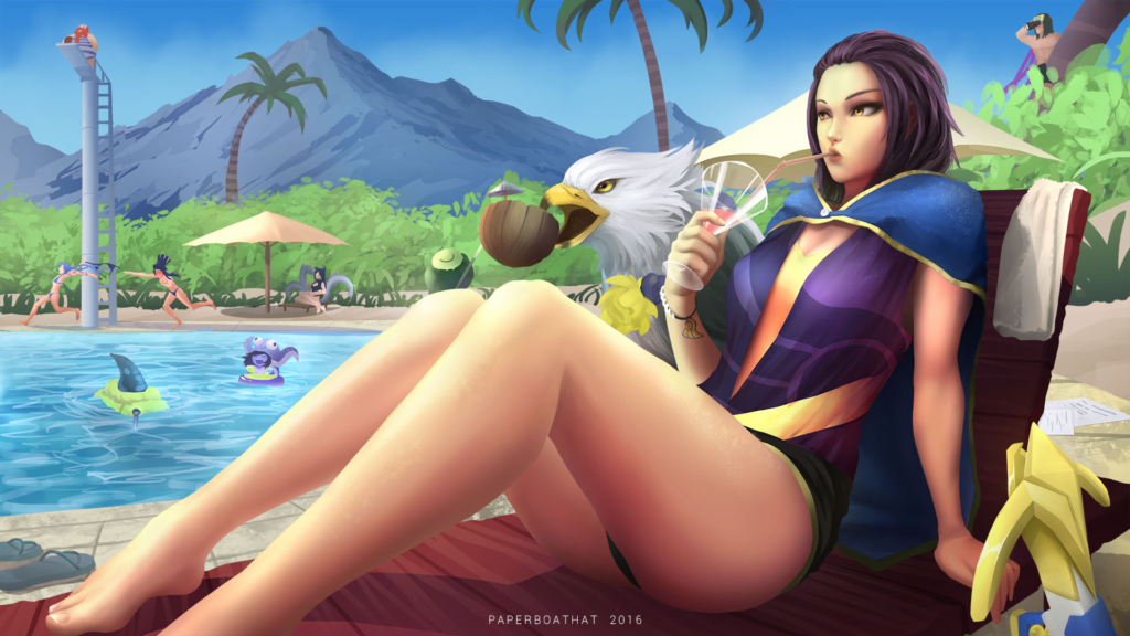 Pool Party Quinn Skin Concept wallpaper