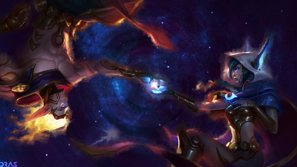 Cosmic Xayah & Rakan wallpaper