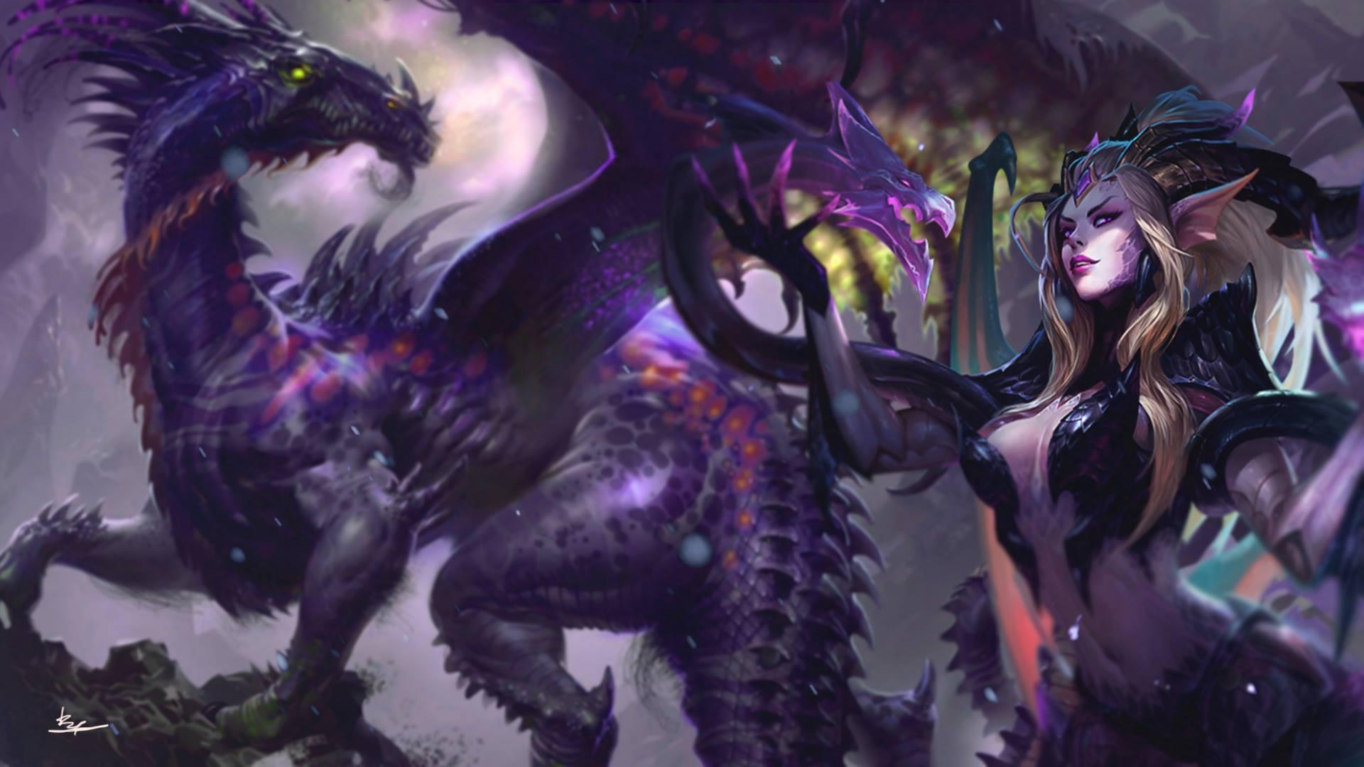Dragon Sorceress Zyra Lolwallpapers