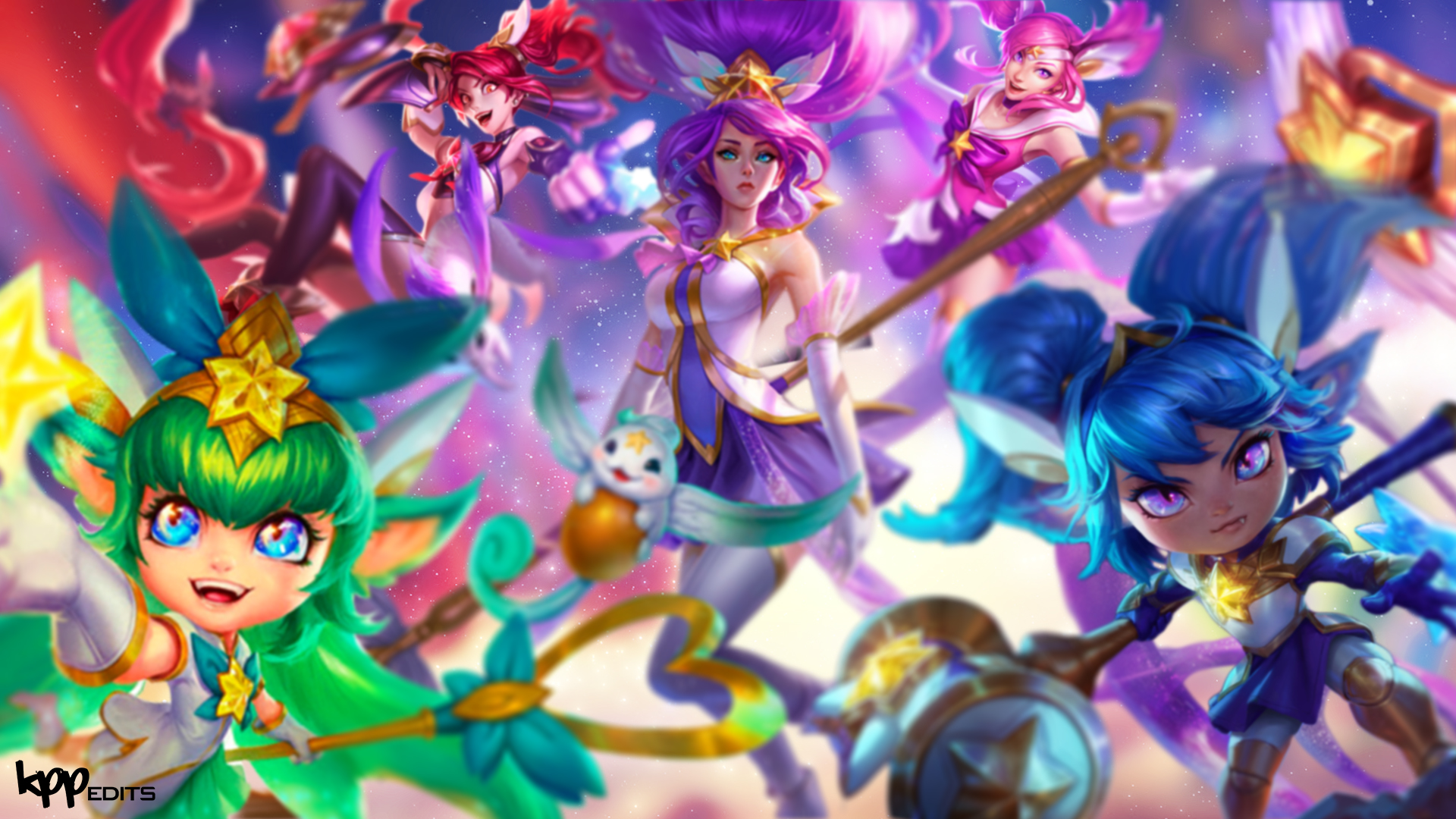 team star guardians lolwallpapers
